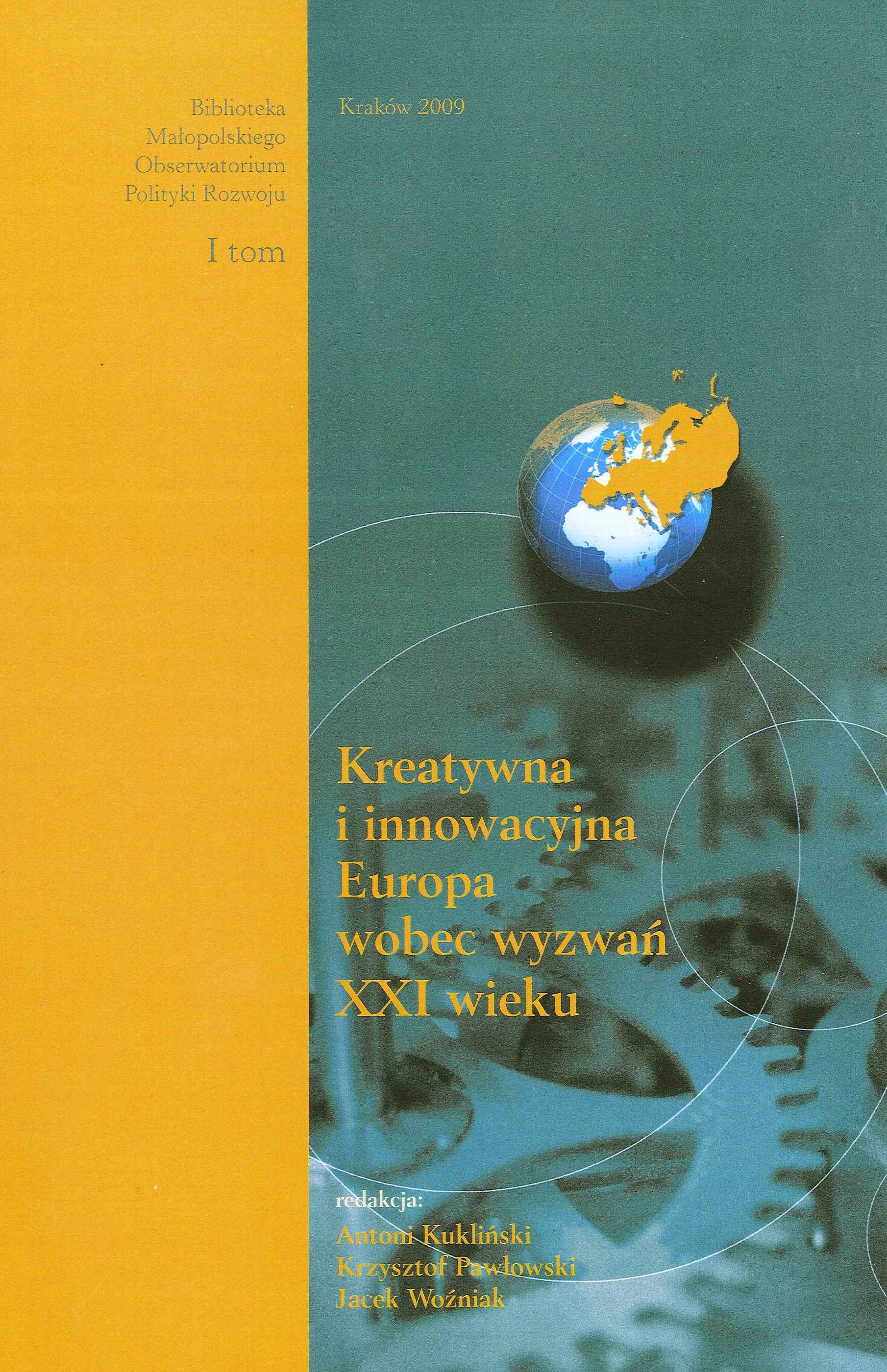 okładka publikacji Kreatywna i innowacyjna Europa wobec wyzwań XXI wieku
