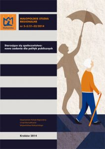 """Okładka raportu: """"Starzejące się społeczeństwo: nowe zadania dla polityk publicznych"""""""
