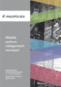"""Okładka raportu: """"Miasto centrum inteligentnych rozwiązań"""""""