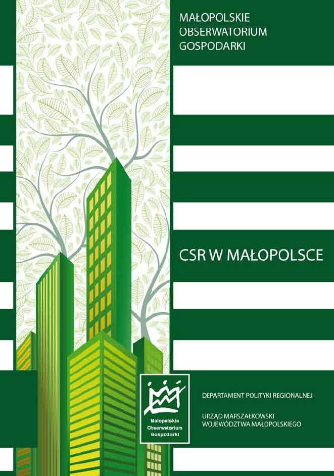 """Okładka raportu: """"CSR w Małopolsce"""""""