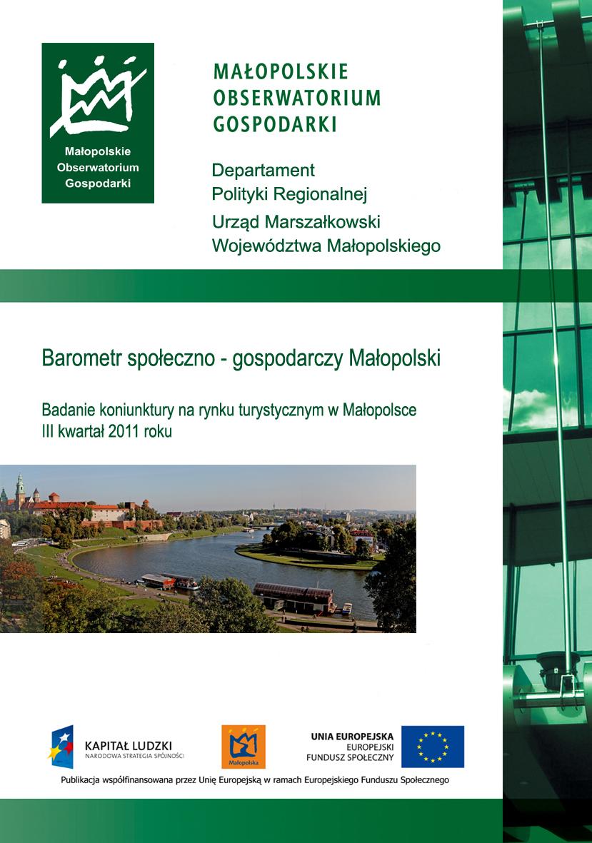 Badanie koniunktury na rynku turystycznym w Małopolsce - IV kwartał 2011