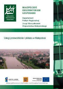 """Okładka raportu: """"Usługi przewodnickie i pilotażu w Małopolsce"""""""