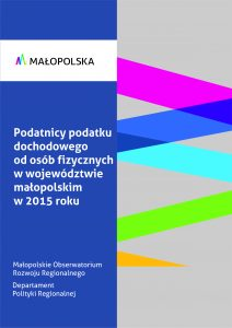 Podatnicy podatku dochodowego od osób fizycznych w województwie małopolskim w 2015 roku