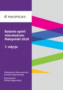 okładka raportu Badanie opinii mieszkańców Małopolski 2018