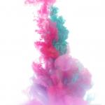 Zdjęcie przedstawia smugę farb
