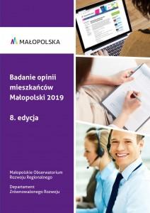 """Okładka raporu """"Badanie opinii mieszkańców Małopolski 2019"""""""